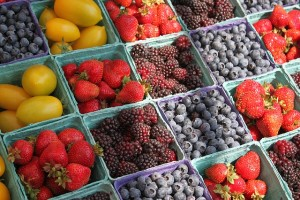 produce at community market